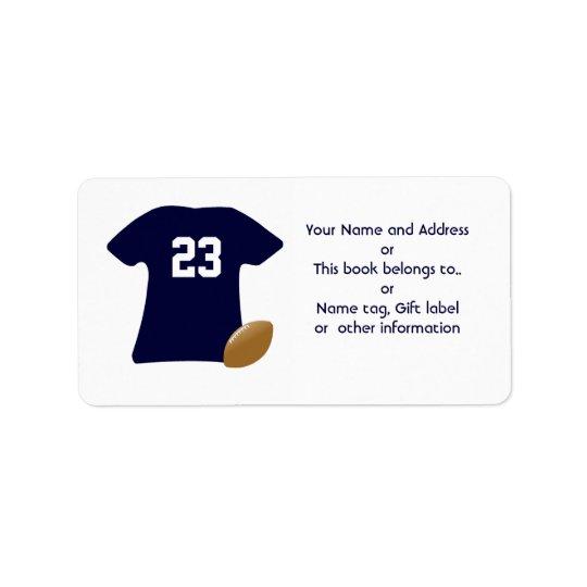 Ihr Fußball-Shirt mit amerikanischer Adressaufkleber