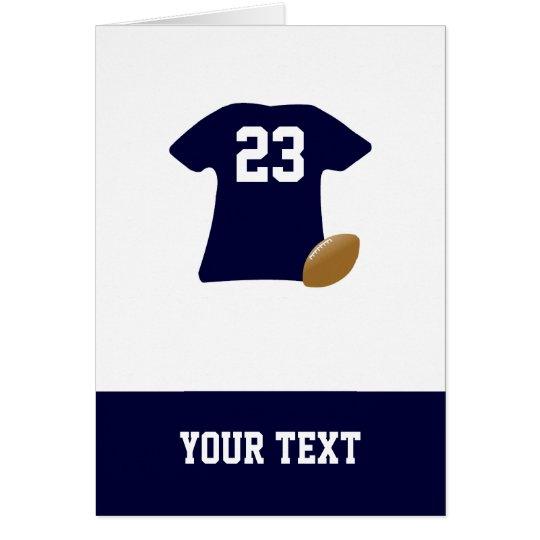 Ihr Fußball-Shirt mit Ball-Geburtstags-Karte Karte
