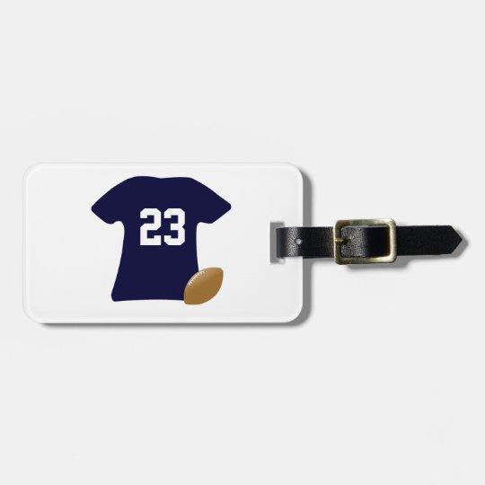 Ihr Fußball-Shirt mit Ball Kofferanhänger