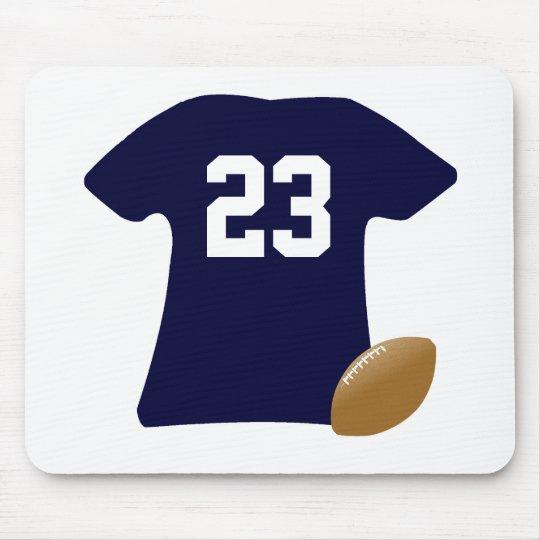 Ihr Fußball-Shirt mit Ball Mousepad