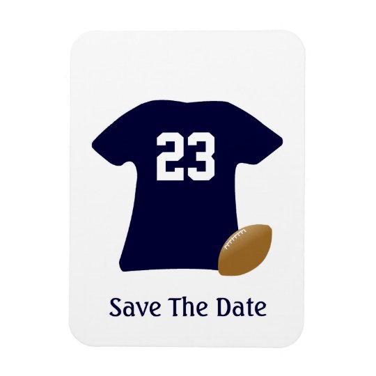 Ihr Fußball-Shirt mit Ball-Save the Date Magneten Magnet