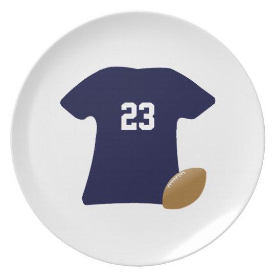 Ihr Fußball-Shirt mit Ball v2 Flacher Teller