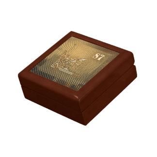 Ihr Geschenk- u. Glückszahl87 Schmuckkästchen Kleine Quadratische Schatulle