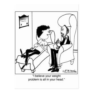 Ihr Gewichts-Problem ist in Ihrem Kopf Postkarte