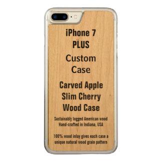 Ihr kundenspezifische dünne Walnuss-Apple iPhone 7 Carved iPhone 8 Plus/7 Plus Hülle