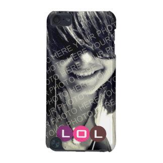 Ihr lila Mod des Fotorosas punktiert LOL Ausdruck iPod Touch 5G Hülle