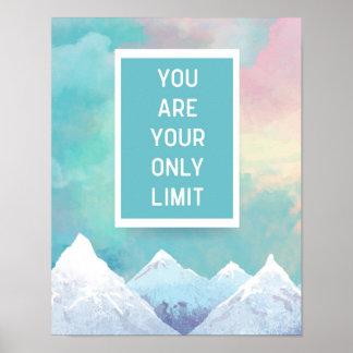 Ihr nur Grenze-Zitat Poster