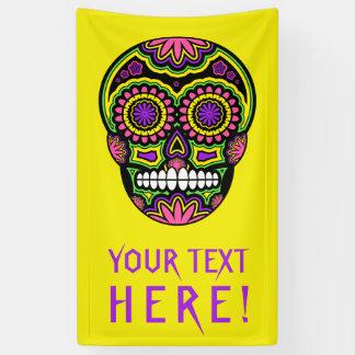 Ihr Text-mexikanischer Zuckerschädel-Tag der Toten Banner