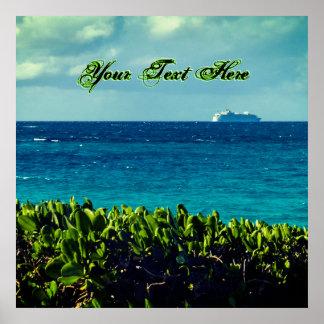 Ihr tropischer Text hier Poster
