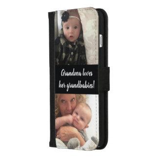 Ihre Fotos und Trendy Typografie-Zitat iPhone 8/7 Plus Geldbeutel-Hülle