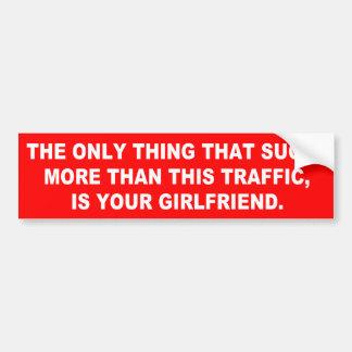 Ihre Freundin ist zum Kotzen mehr als Verkehr Autoaufkleber