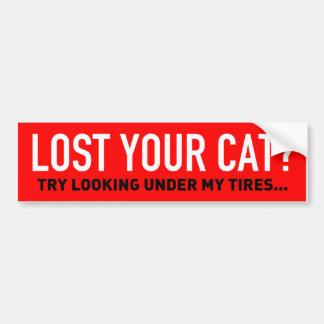 Ihre Katze unter meinen Reifen Autoaufkleber