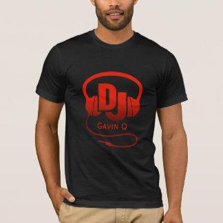 Ihre Namensrot DJ-Kopfhörer T-Shirt