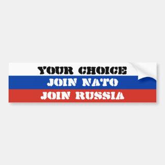 Ihre Wahl, schließen sich NATO an oder verbinden Autoaufkleber