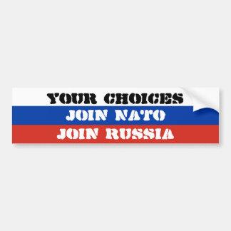 Ihre Wahlen, schließen sich NATO an oder verbinden Autoaufkleber