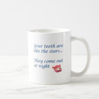Ihre Zähne sind wie die Sterne Kaffeetasse
