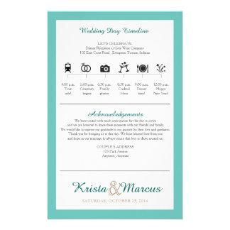 Ikonen-Zeitachse-Hochzeits-Programm Flyer