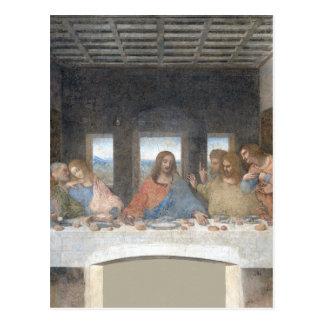 Ikonenhafter Leonardo da Vinci das letzte Postkarte