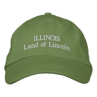 Illinois-Land von Lincoln Bestickte Baseballkappe