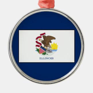 Illinois Silbernes Ornament