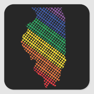 Illinois-Staatsstolz Quadratischer Aufkleber