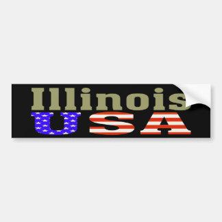 Illinois USA! Autoaufkleber