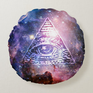 Illuminati Nebelfleck Rundes Kissen