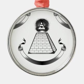 illuminati rundes silberfarbenes ornament