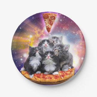 Illuminatis Pizza - Pizzakatze - Katzensitzen Pappteller