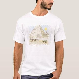 Illustration der Pyramiden und der Männer mit T-Shirt