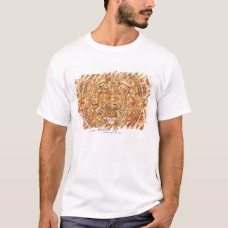 Illustration des aztekischen Sonnesteins T-Shirt
