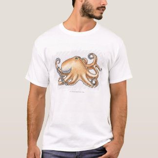 Illustration einer Krake T-Shirt
