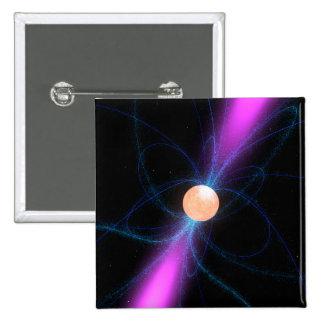 Illustration eines Pulsar 2 Quadratischer Button 5,1 Cm
