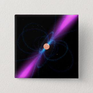 Illustration eines Pulsar Quadratischer Button 5,1 Cm