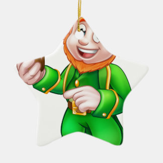 Illustration Kobold-St. Patricks Tages Keramik Stern-Ornament