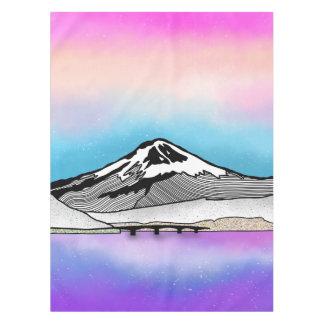 Illustration Mt Fuji Japan Landschafts Tischdecke