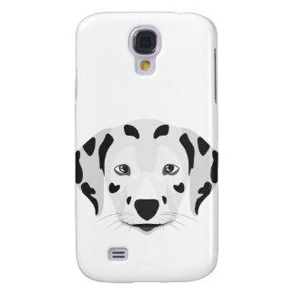 Illustration verfolgt Gesicht Dalmatiner Galaxy S4 Hülle