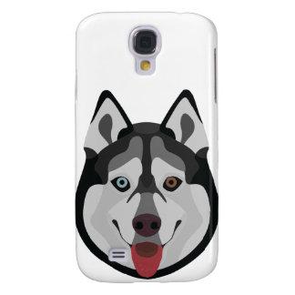 Illustration verfolgt Gesicht sibirischen Husky Galaxy S4 Hülle
