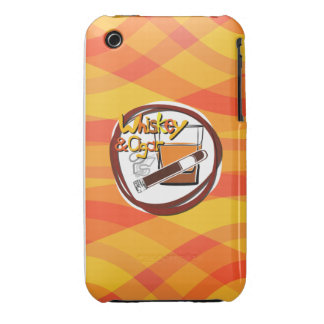 Illustration Wiskey und Zigarre iPhone 3 Cover