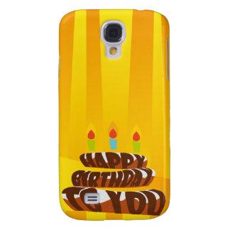 Illustrations-alles- Gute zum Geburtstagkuchen mit Galaxy S4 Hülle
