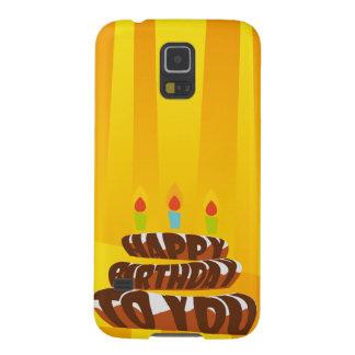 Illustrations-alles- Gute zum Geburtstagkuchen mit Galaxy S5 Cover