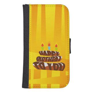 Illustrations-alles- Gute zum Geburtstagkuchen mit Geldbeutel Hülle Für Das Samsung Galaxy S4