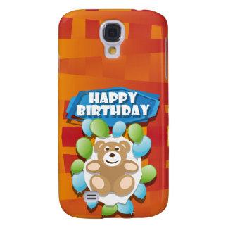 Illustrations-alles- Gute zum GeburtstagTeddybär Galaxy S4 Hülle