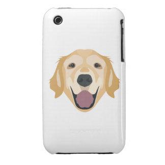 Illustrations-golden retriever iPhone 3 Case-Mate hüllen
