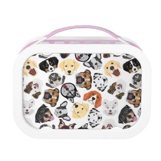 Illustrations-Muster-Hunde Brotdose