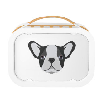 Illustrations-niedliche französische Bulldogge Brotdose