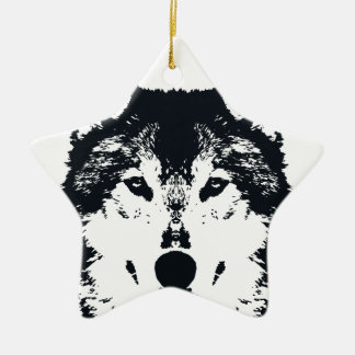 Illustrations-schwarzer Wolf Keramik Ornament