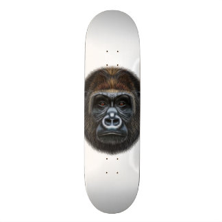 Illustriertes Porträt des Gorillamannes Skateboard Bretter