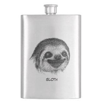 Illustriertes Sloth-Gesicht Flachmann