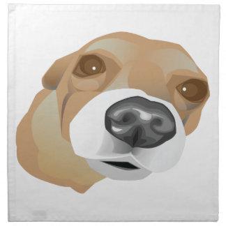 Illustriertes vektorporträt eines kleinen Hundes Serviette
